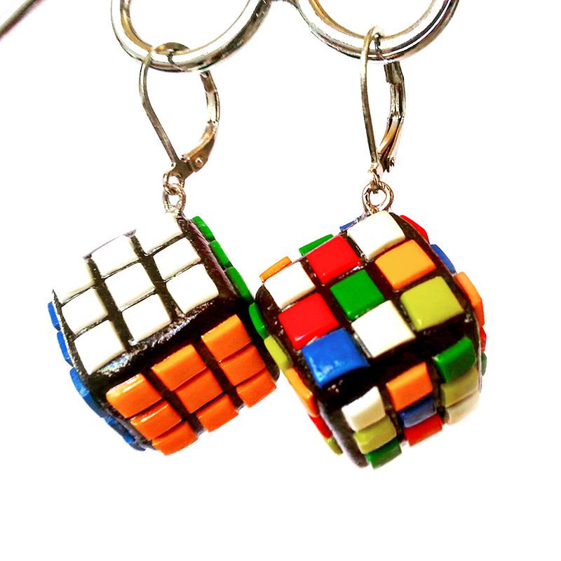 Orecchini cubo di Rubik