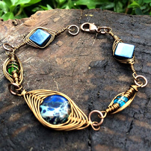 Wire Wrapped - bracciale misto